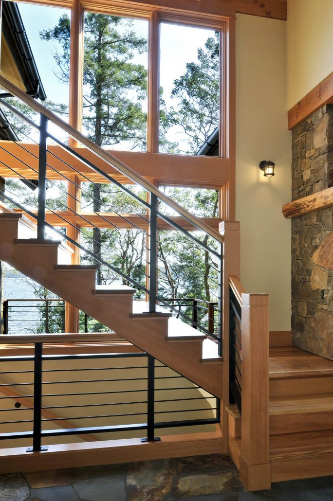 escalier rustique garde corps net. Black Bedroom Furniture Sets. Home Design Ideas